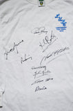 1972 FA Cup multi hand signed shirt by 9 autographed Leeds United