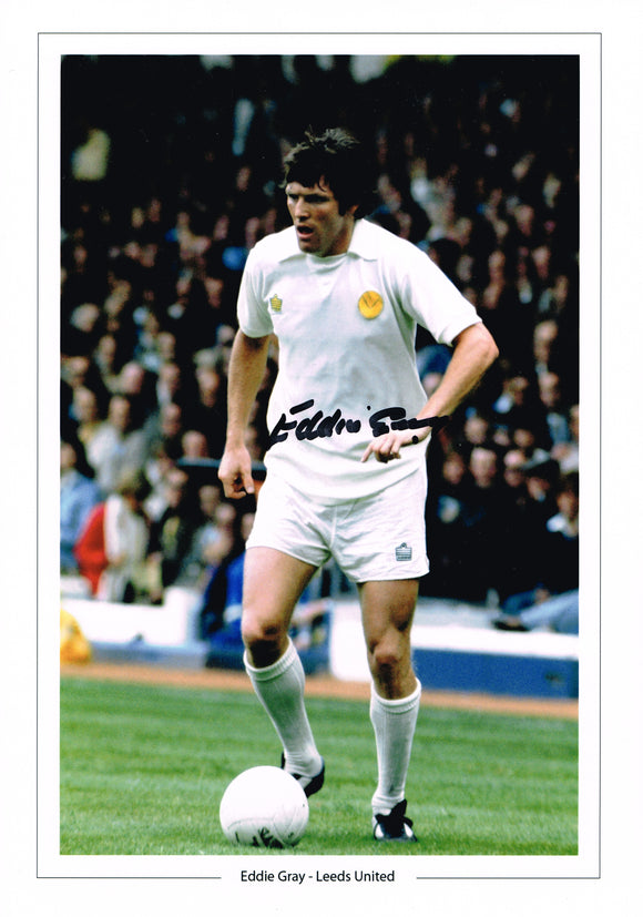 Eddie Gray hand signed autographed photo Leeds United
