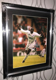 SALE Large Tony Yeboah Celebration hand signed autographed photo Leeds United