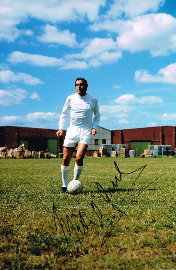 Mike O'Grady hand signed autographed photo Leeds United