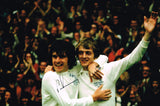Allan Clarke and Peter Lorimer hand signed autographed photo Leeds United