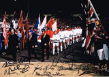 1972 FA Cup Walk Out multi hand signed autographed photo Leeds United