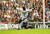 SALE Large Tony Yeboah Wimbledon Goal hand signed autographed photo Leeds United