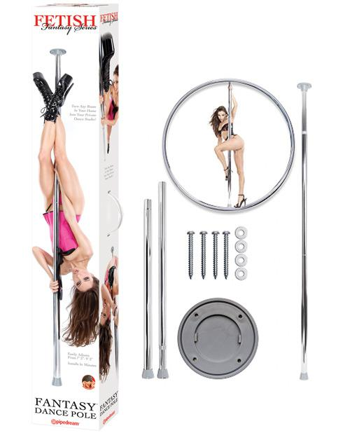 Fetish Fantasy Series Dance Pole - Silver