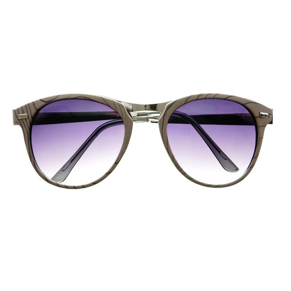 Fashion Designer Style Wood Like Round Sunglasses R2180 - FREYRS - Beautifully designed, cheap sunglasses for men & women  - 1