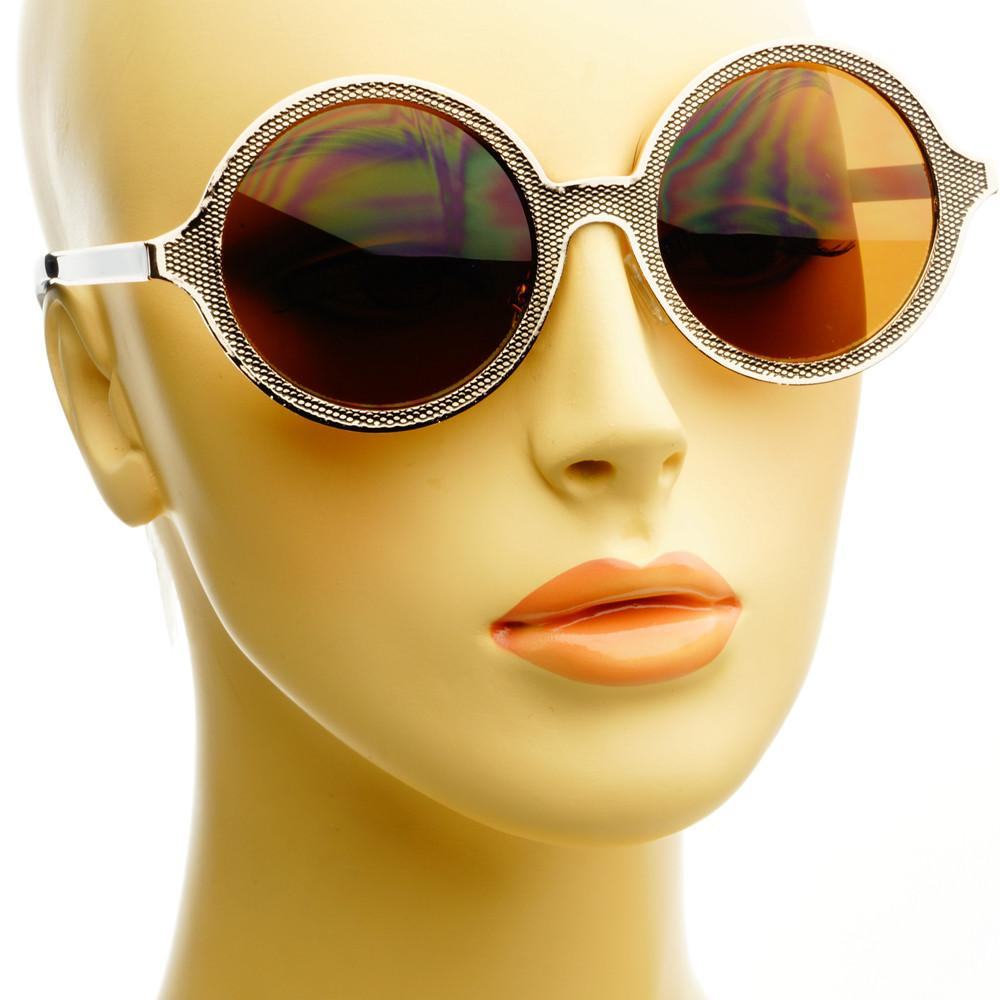 Celebrity Designer Style Unique Metal Round Sunglasses R1920 - FREYRS - Beautifully designed, cheap sunglasses for men & women  - 6