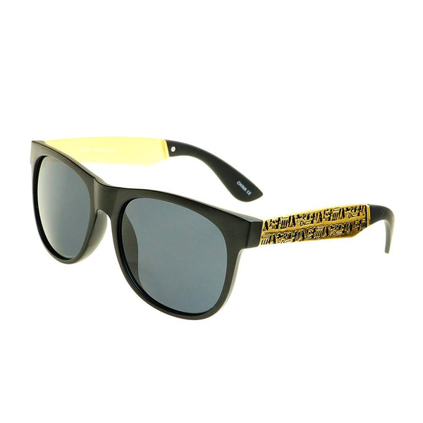 Hieroglyphic Print Unisex Dark Lens Style Sunglasses W2210 - FREYRS - Beautifully designed, cheap sunglasses for men & women  - 5