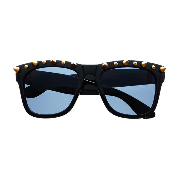 Gothic Style Metal Spikes Cool Punk Large Square Sunglasses W57 - FREYRS - Beautifully designed, cheap sunglasses for men & women  - 4