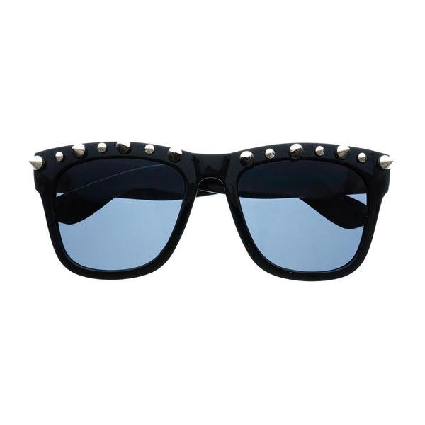 Gothic Style Metal Spikes Cool Punk Large Square Sunglasses W57 - FREYRS - Beautifully designed, cheap sunglasses for men & women  - 1