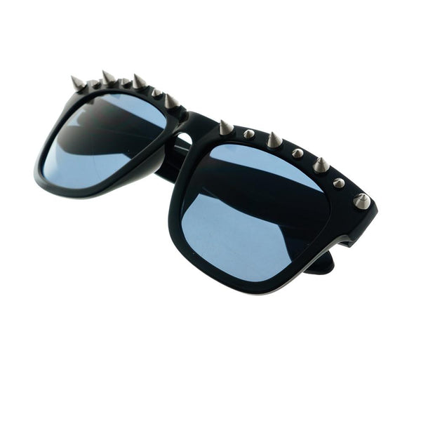 Gothic Style Metal Spikes Cool Punk Large Square Sunglasses W57 - FREYRS - Beautifully designed, cheap sunglasses for men & women  - 2