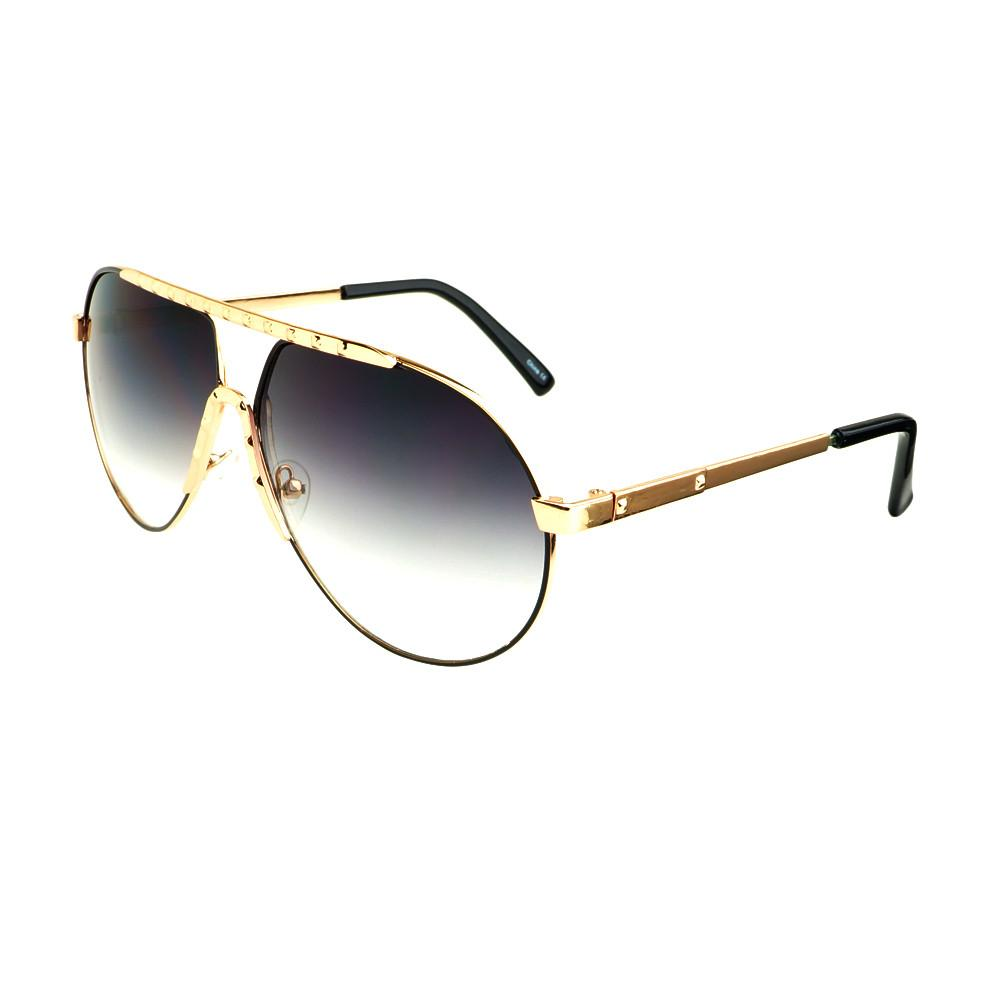 Unique Metal Celebrity Designer Fashion Large Aviator Sunglasses A1440 - FREYRS - Beautifully designed, cheap sunglasses for men & women  - 6