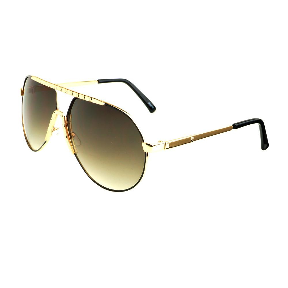 Unique Metal Celebrity Designer Fashion Large Aviator Sunglasses A1440 - FREYRS - Beautifully designed, cheap sunglasses for men & women  - 9