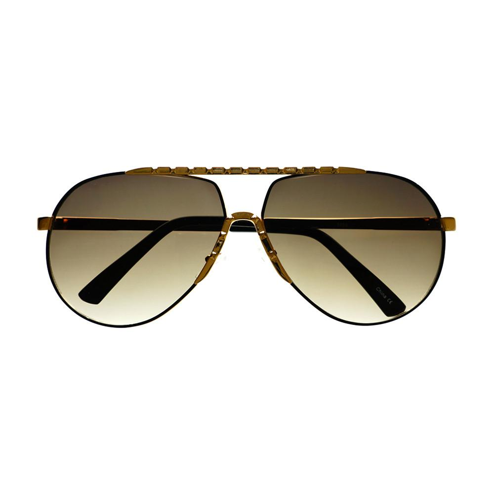 Unique Metal Celebrity Designer Fashion Large Aviator Sunglasses A1440 - FREYRS - Beautifully designed, cheap sunglasses for men & women  - 8