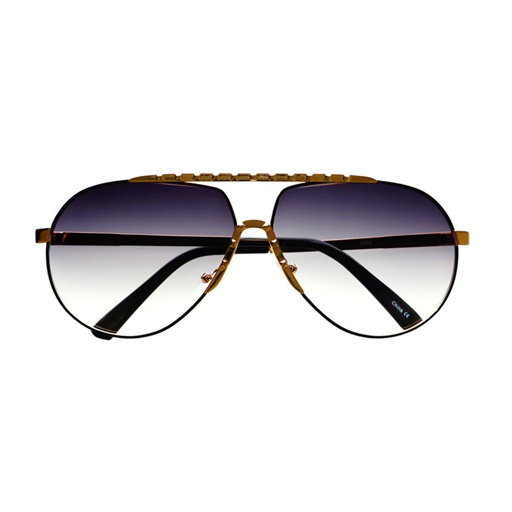 Unique Metal Celebrity Designer Fashion Large Aviator Sunglasses A1440 - FREYRS - Beautifully designed, cheap sunglasses for men & women  - 5