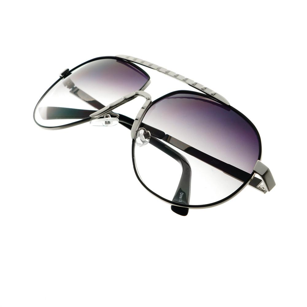 Unique Metal Celebrity Designer Fashion Large Aviator Sunglasses A1440 - FREYRS - Beautifully designed, cheap sunglasses for men & women  - 4