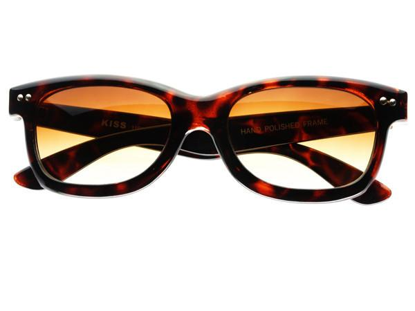 Stylish Sleek Rectangular Sunglasses Tortoise T242 - FREYRS - Beautifully designed, cheap sunglasses for men & women  - 1