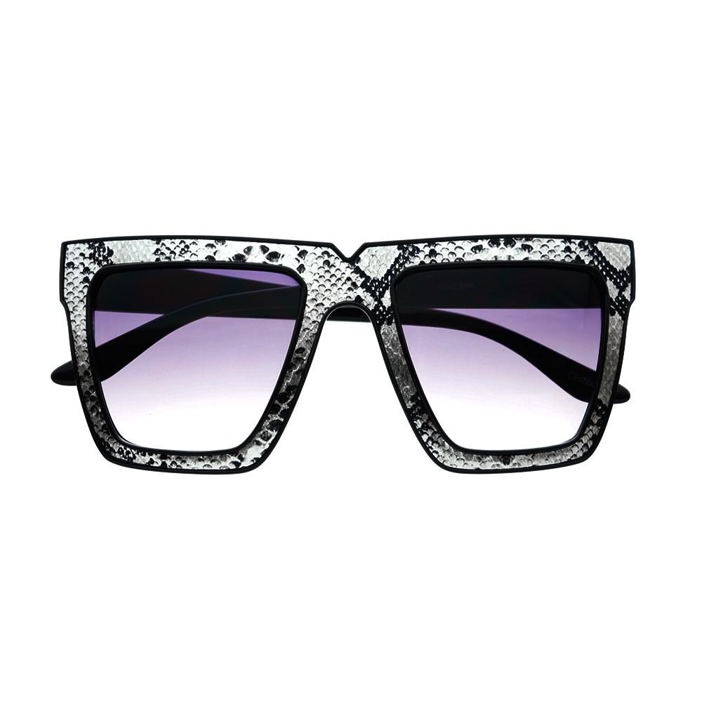 Snake Print Celebrity Fashion Square Flat Top Sunglasses Shades FT46 - FREYRS - Beautifully designed, cheap sunglasses for men & women  - 3