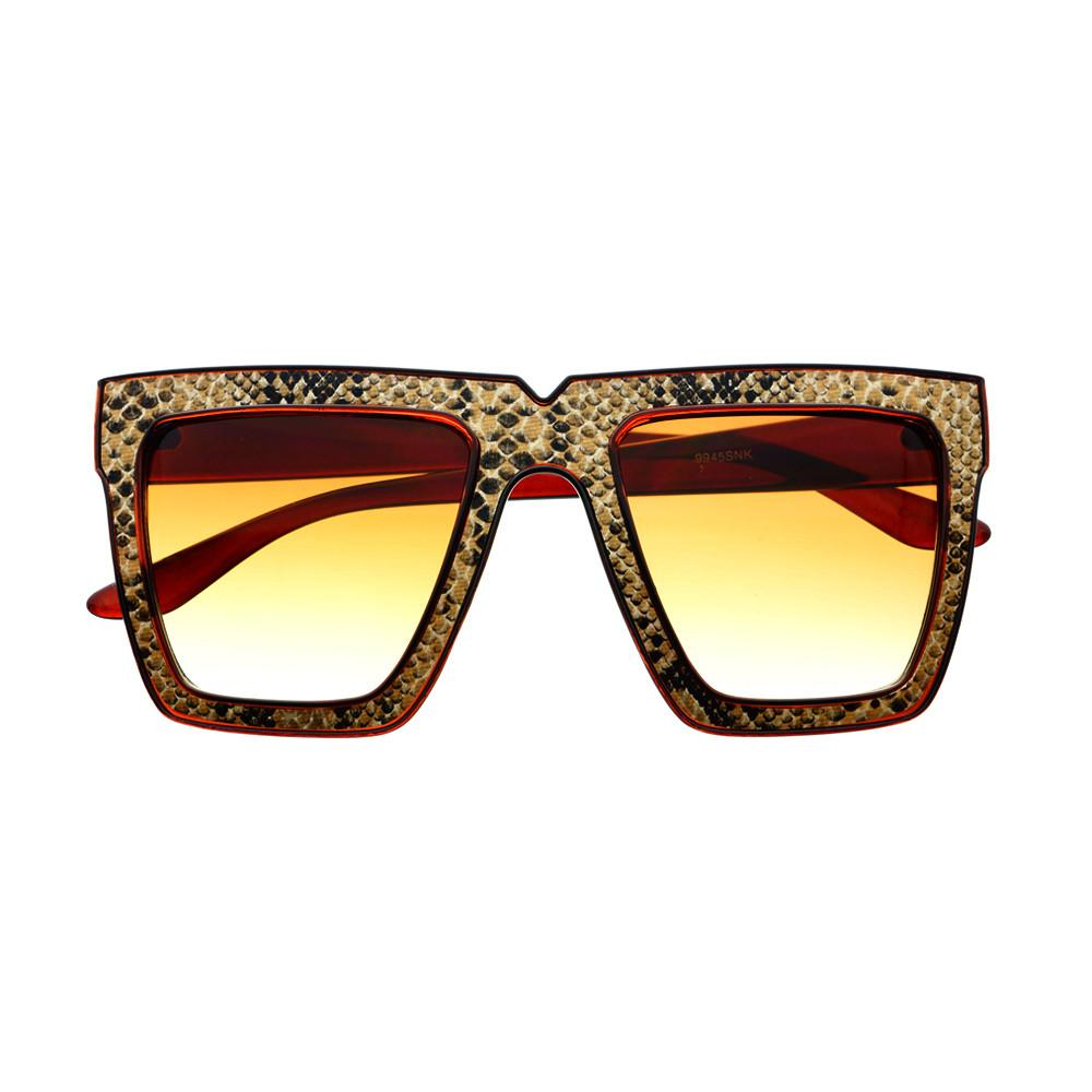 Snake Print Celebrity Fashion Square Flat Top Sunglasses Shades FT46 - FREYRS - Beautifully designed, cheap sunglasses for men & women  - 1
