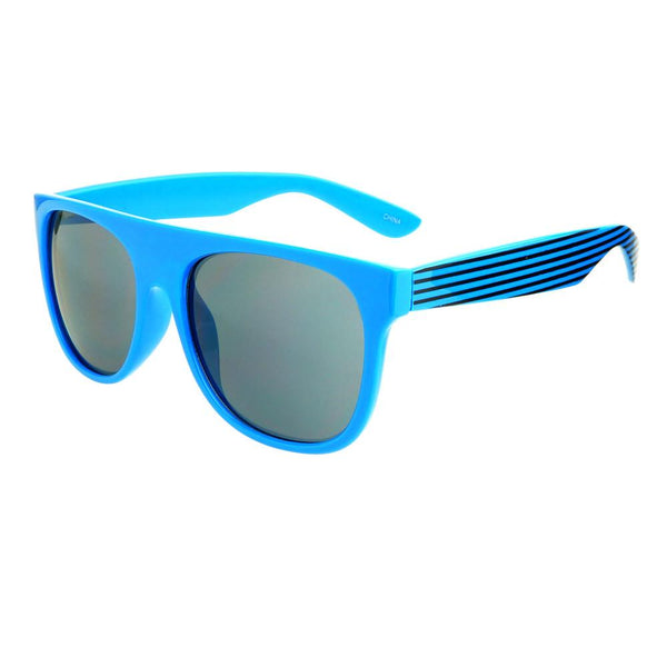 Super Party Style Stripy Arms Flat Top Sunglasses Shades FT38 - FREYRS - Beautifully designed, cheap sunglasses for men & women  - 3