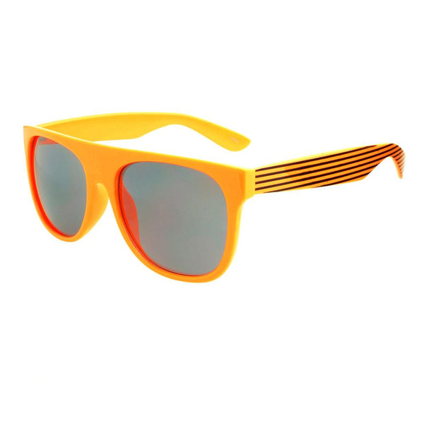 Super Party Style Stripy Arms Flat Top Sunglasses Shades FT38 - FREYRS - Beautifully designed, cheap sunglasses for men & women  - 6