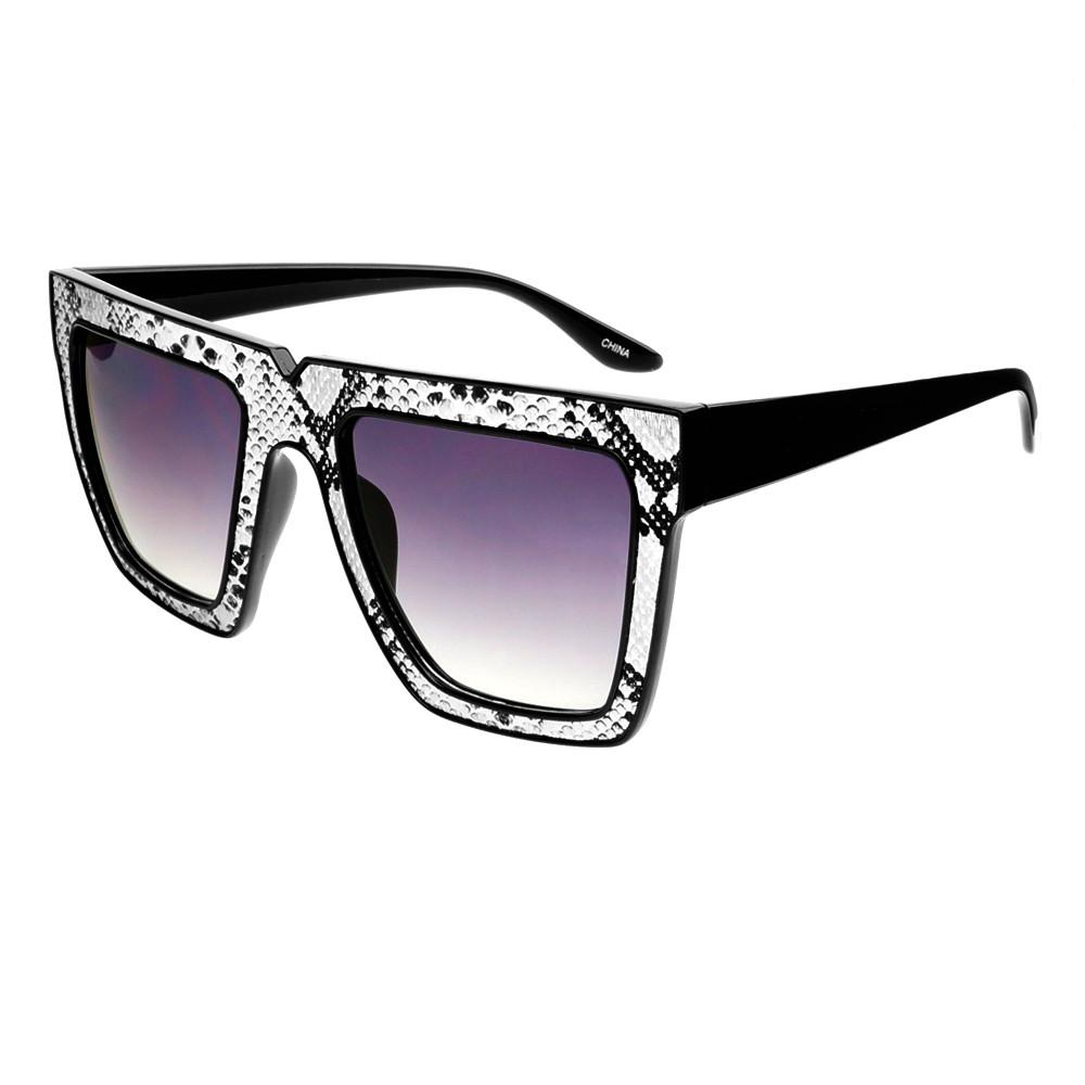 Snake Print Celebrity Fashion Square Flat Top Sunglasses Shades FT46 - FREYRS - Beautifully designed, cheap sunglasses for men & women  - 6