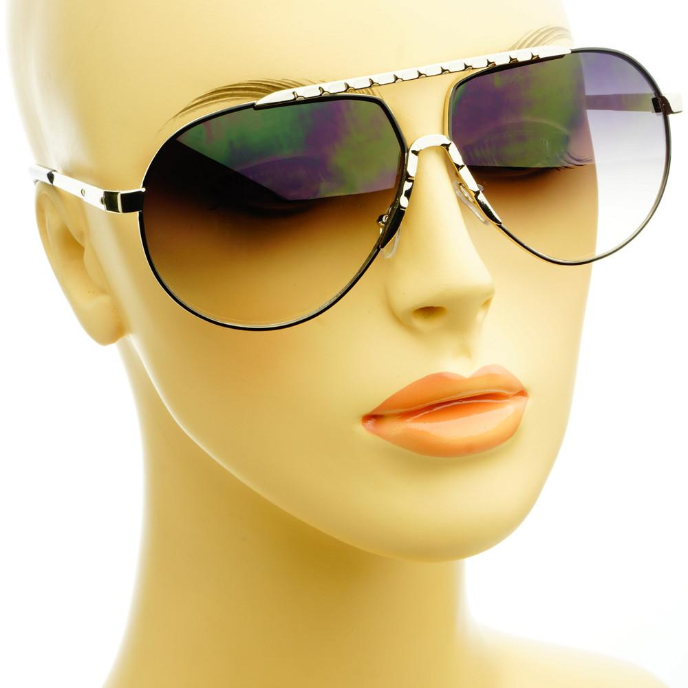 Unique Metal Celebrity Designer Fashion Large Aviator Sunglasses A1440 - FREYRS - Beautifully designed, cheap sunglasses for men & women  - 10