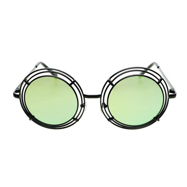 Unique Funky Mirror Lens Large Metal Circle Round Sunglasses R2970 - FREYRS - Beautifully designed, cheap sunglasses for men & women  - 1