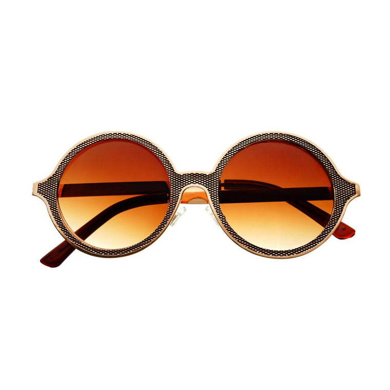 Celebrity Designer Style Unique Metal Round Sunglasses R1920