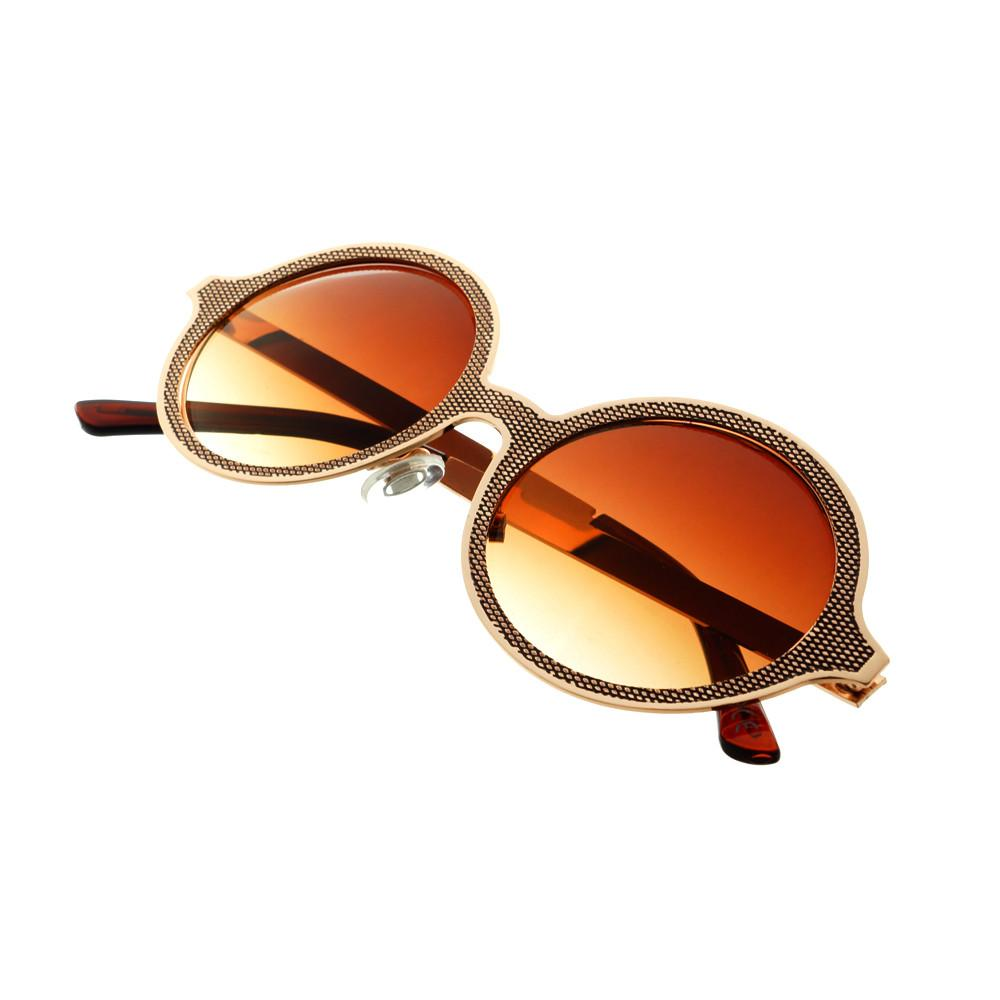 Celebrity Designer Style Unique Metal Round Sunglasses R1920 - FREYRS - Beautifully designed, cheap sunglasses for men & women  - 2