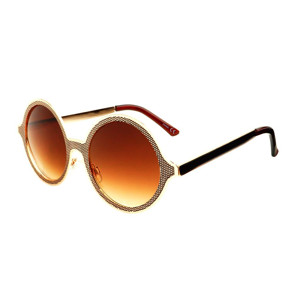 Celebrity Designer Style Unique Metal Round Sunglasses R1920 - FREYRS - Beautifully designed, cheap sunglasses for men & women  - 3