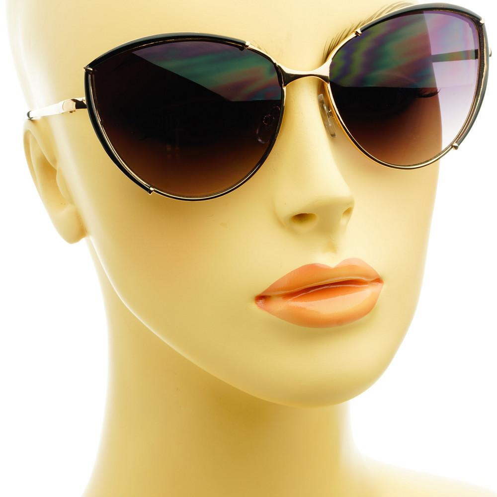 Large Fashion Designer Womens Metal Cat Eye Sunglasses C1290 - FREYRS - Beautifully designed, cheap sunglasses for men & women  - 8