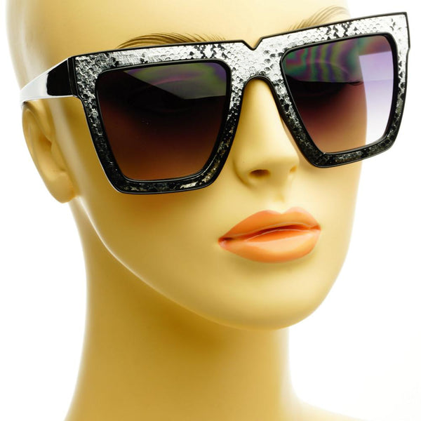 Snake Print Celebrity Fashion Square Flat Top Sunglasses Shades FT46 - FREYRS - Beautifully designed, cheap sunglasses for men & women  - 7