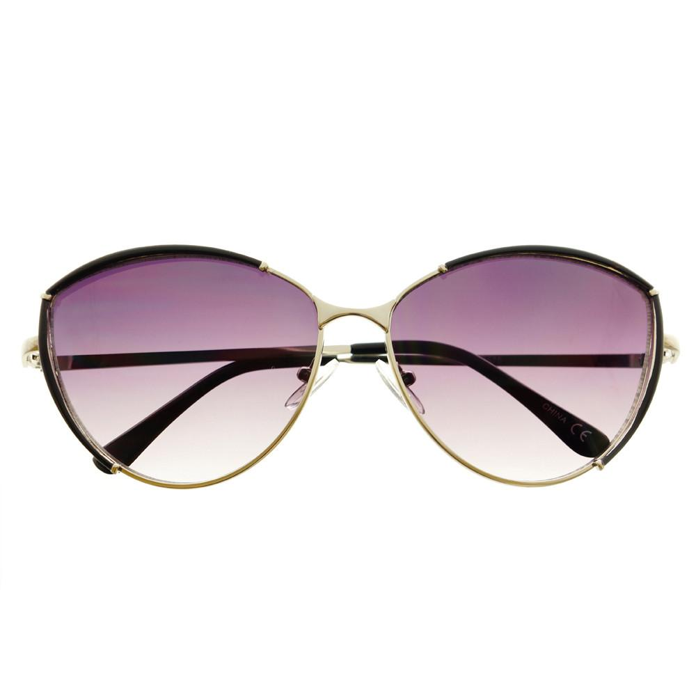 Large Fashion Designer Womens Metal Cat Eye Sunglasses C1290 - FREYRS - Beautifully designed, cheap sunglasses for men & women  - 6