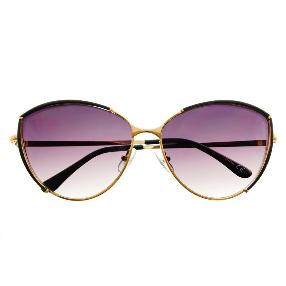 Large Fashion Designer Womens Metal Cat Eye Sunglasses C1290 - FREYRS - Beautifully designed, cheap sunglasses for men & women  - 3
