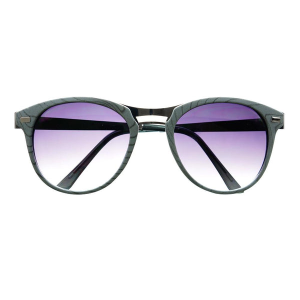 Fashion Designer Style Wood Like Round Sunglasses R2180 - FREYRS - Beautifully designed, cheap sunglasses for men & women  - 7