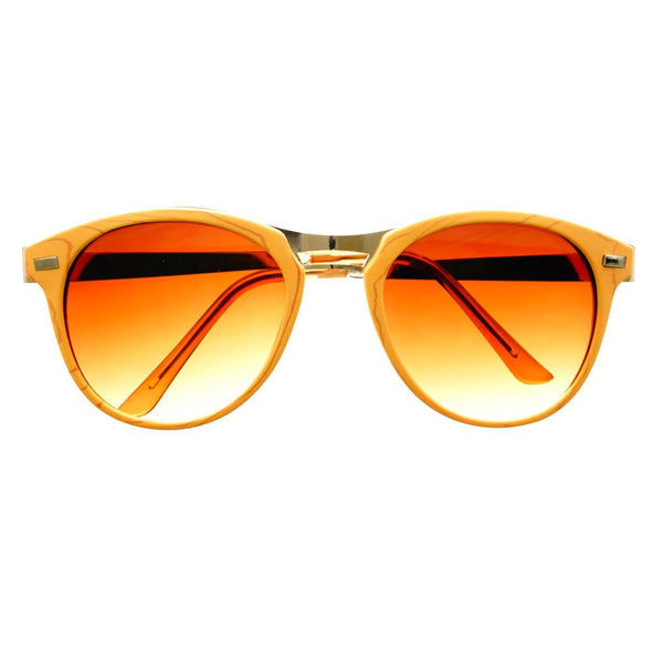 Fashion Designer Style Wood Like Round Sunglasses R2180 - FREYRS - Beautifully designed, cheap sunglasses for men & women  - 6