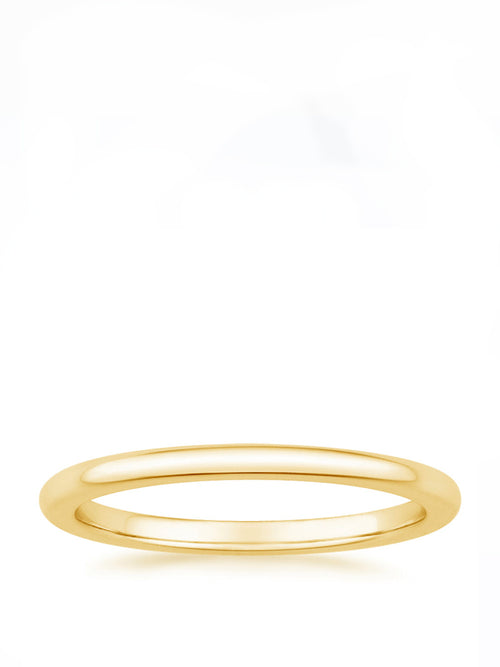 Fine Plain Wedding Ring