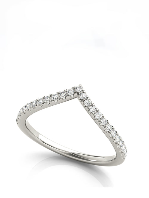 Chevron Diamond Ring