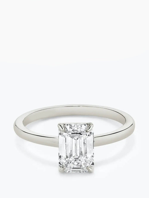1ct D colour SI1 clarity Emerald Cut Solitaire