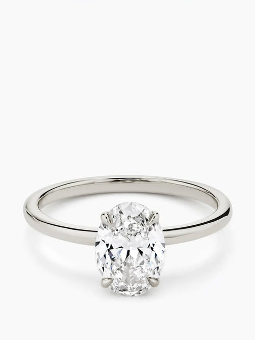 1.5ct G colour SI1 clarity Oval Solitaire