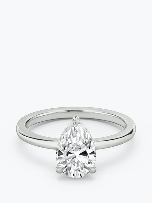 1ct D colour SI1 clarity Pear Solitaire