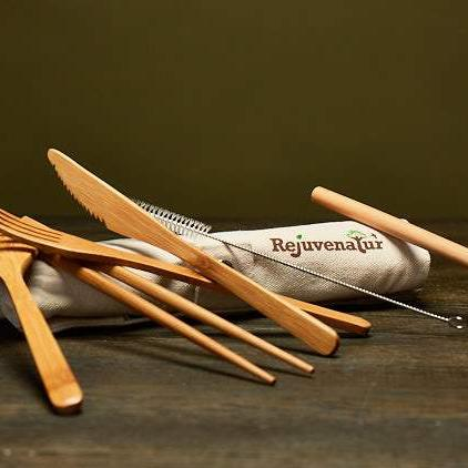 Reusable Bamboo Travel Cutlery Set - Rejuvenatur