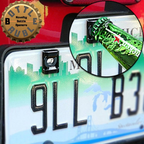 License Plate Bottle Opener