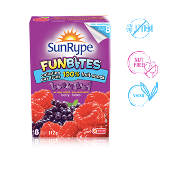Sunrype FunBites Berry (8 pouches)