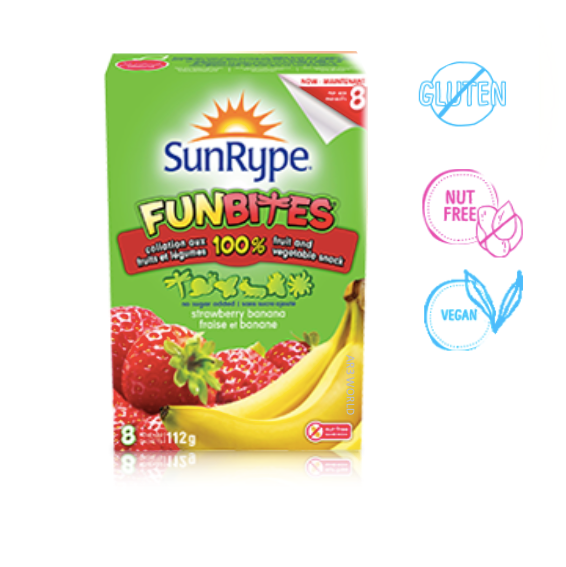 Sunrype FunBites Strawberry Banana (Fruit + Veg)