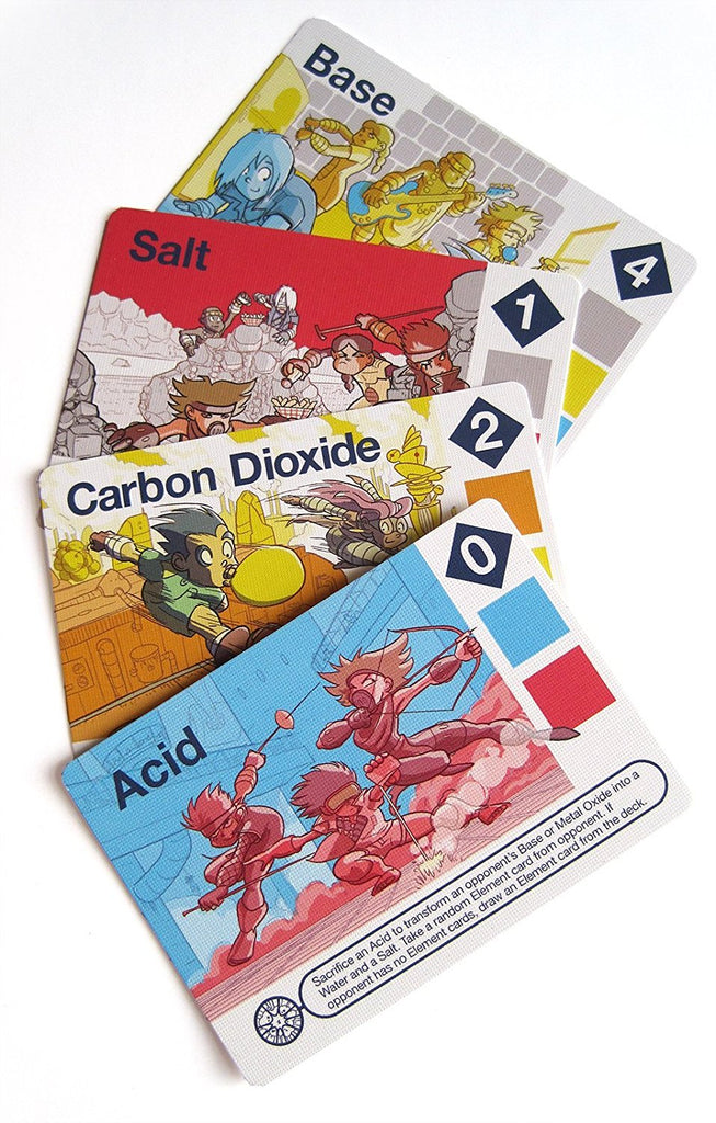 Science Ninjas : Valence Card Game Teach Kids How Molecules Form and Chemicals Interact!