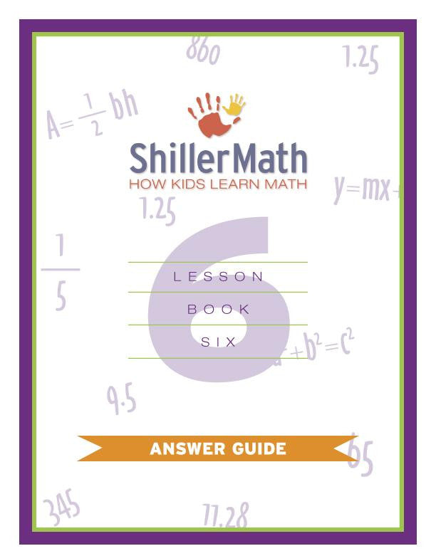Math Answer Guide 6