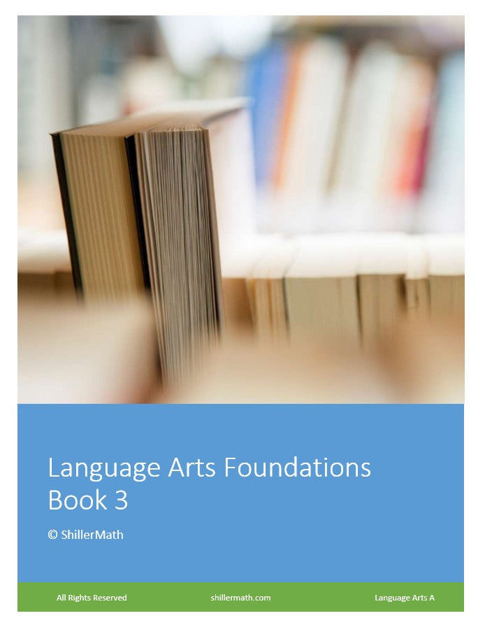 Language Arts Lesson Book 3