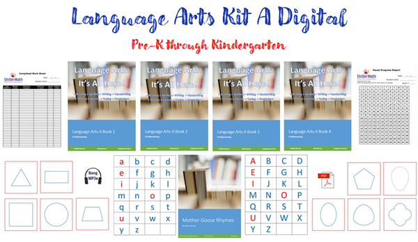 Language Arts Kit A DIGITAL (PreK/K-G1)