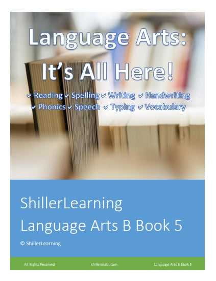 Language Arts Lesson Book 5